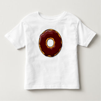 Camiseta Infantil Design da rosquinha do chocolate dos desenhos