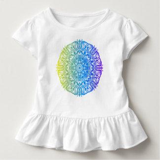 Camiseta Infantil Design floral étnico abstrato colorido da mandala