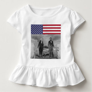 Camiseta Infantil Dia da Independência George Washington Abraham