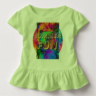 Camiseta Infantil Divertimento do verão!  T Ruffled da criança no