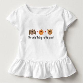 """Camiseta Infantil Do """"camisa do plissado do bebé do gato do pintinho"""