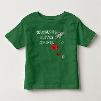 Camiseta Infantil Do inseto pequeno da senhora do ajudante de Grammy