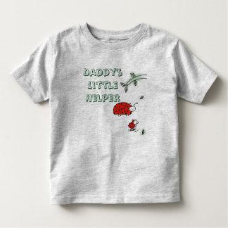 Camiseta Infantil Do inseto pequeno da senhora do ajudante do pai