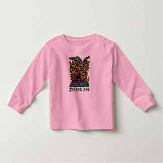 """Camiseta Infantil Do """"luva longa da criança do Kat bobo da corte"""""""