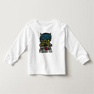 """Camiseta Infantil Do """"luva longa da criança do Kat canalizador"""""""