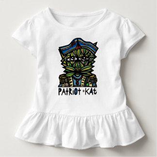 """Camiseta Infantil Do """"T do plissado da criança do Kat patriota"""""""