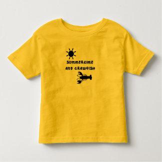 """Camiseta Infantil Do """"t-shirt da criança verão e dos lagostins"""""""