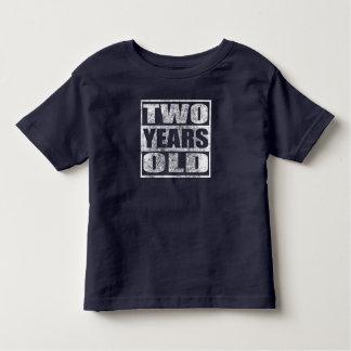 Camiseta Infantil Dois anos velho - t-shirt feliz do segundo