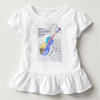 Camiseta Infantil doodle da fusão das cores e preto e branco