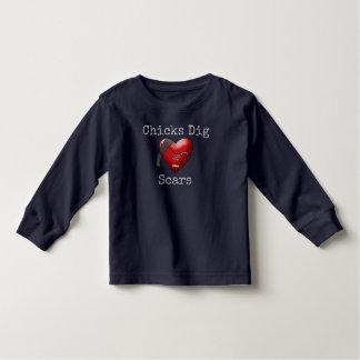 """Camiseta Infantil Dos """"t-shirt das cicatrizes da escavação"""