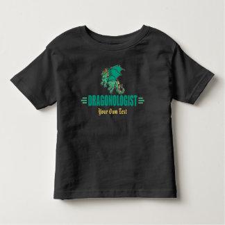 Camiseta Infantil Dragão verde da fantasia