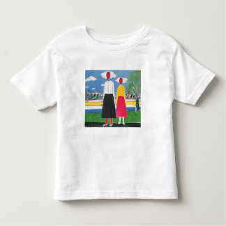 Camiseta Infantil Duas figuras em uma paisagem por Kazimir Malevich