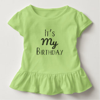 Camiseta Infantil É meu T do plissado da criança do aniversário
