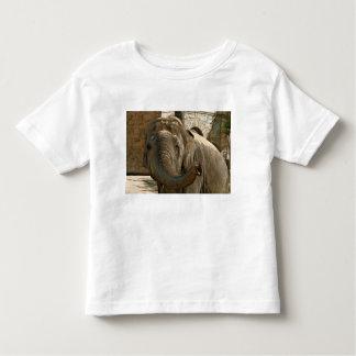 Camiseta Infantil Elefante que aponta para a frente com o tronco