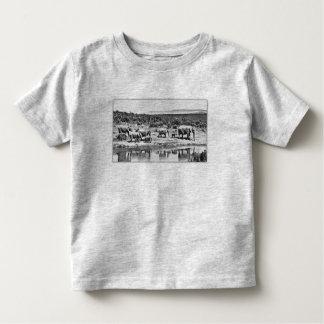 Camiseta Infantil Elefantes de Bush do africano, t-shirt dos animais