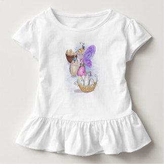 Camiseta Infantil Elisa o T feericamente do plissado da criança da