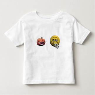 Camiseta Infantil Emoticon amarelo ou smiley do Dia das Bruxas
