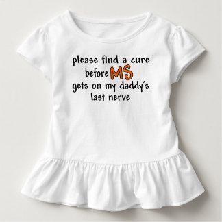 Camiseta Infantil Encontre uma cura antes que o MS obtenha no último