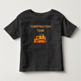 Camiseta Infantil Equipe bonito da construção, t-shirt da novidade