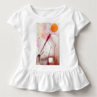 Camiseta Infantil Esferas 19 da parte superior da túnica do plissado
