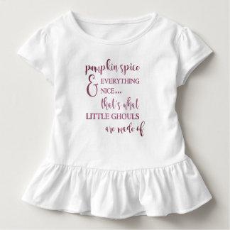 Camiseta Infantil Especiaria e tudo da abóbora T agradável do
