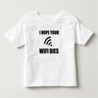 Camiseta Infantil Espere seus dados de Wifi