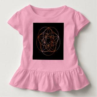 Camiseta Infantil Espiral de Fibonacci a geometria sagrado