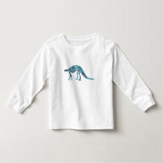 Camiseta Infantil Esqueleto do dinossauro (Scelidosaurus)