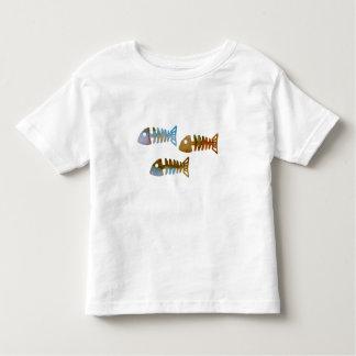 Camiseta Infantil Esqueleto dos peixes