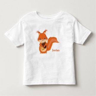 Camiseta Infantil Esquilo bonito da floresta do miúdo