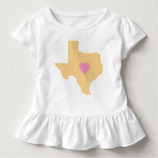 Camiseta Infantil Estado de Texas do ouro com o t-shirt cor-de-rosa