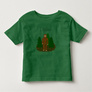 Camiseta Infantil Eu acredito - Bigfoot