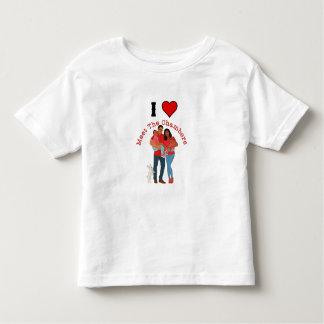 Camiseta Infantil Eu amo a reunião o t-shirt das câmaras