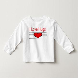 Camiseta Infantil Eu amo abraços