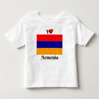 Camiseta Infantil Eu amo Arménia