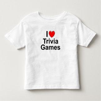 Camiseta Infantil Eu amo jogos da trivialidade do coração