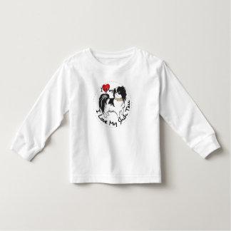 Camiseta Infantil Eu amo meu cão de Shih Tzu