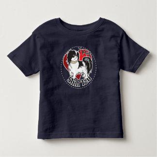 Camiseta Infantil Eu amo meu cão engraçado & bonito adorável feliz