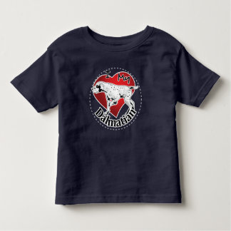 Camiseta Infantil Eu amo meu Dalmatian engraçado & bonito adorável