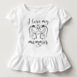 Camiseta Infantil Eu amo minhas mamãs