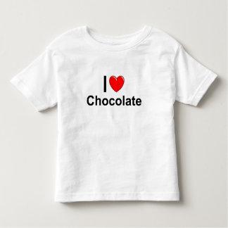 Camiseta Infantil Eu amo o chocolate do coração