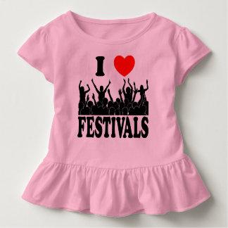 Camiseta Infantil Eu amo os festivais (o preto)