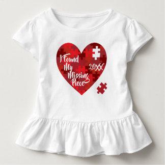 Camiseta Infantil Eu encontrei minha parte faltante - coração do