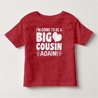 Camiseta Infantil Eu estou indo ser um primo grande outra vez