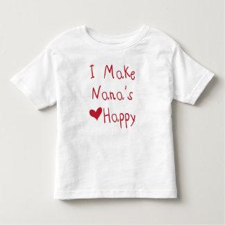 Camiseta Infantil Eu faço ao coração de Nana o t-shirt feliz