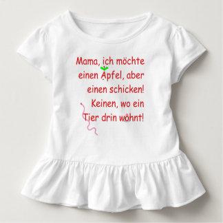 Camiseta Infantil Eu mãe gostaria uma maçã de, porém chique!