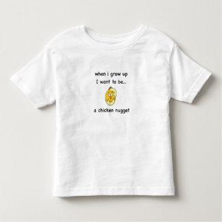 Camiseta Infantil Eu quero ser… uma pepita de galinha!