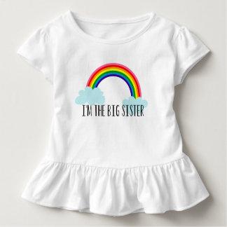 Camiseta Infantil Eu sou a irmã mais velha que o arco-íris Toddle o