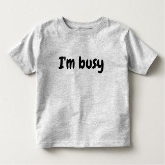Camiseta Infantil Eu sou a tipografia do miúdo novo ocupado da