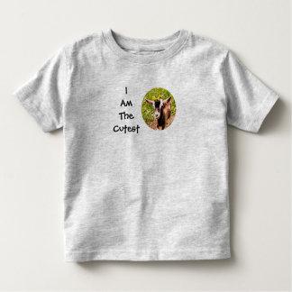 Camiseta Infantil Eu sou o miúdo o mais bonito (a foto da cabra do